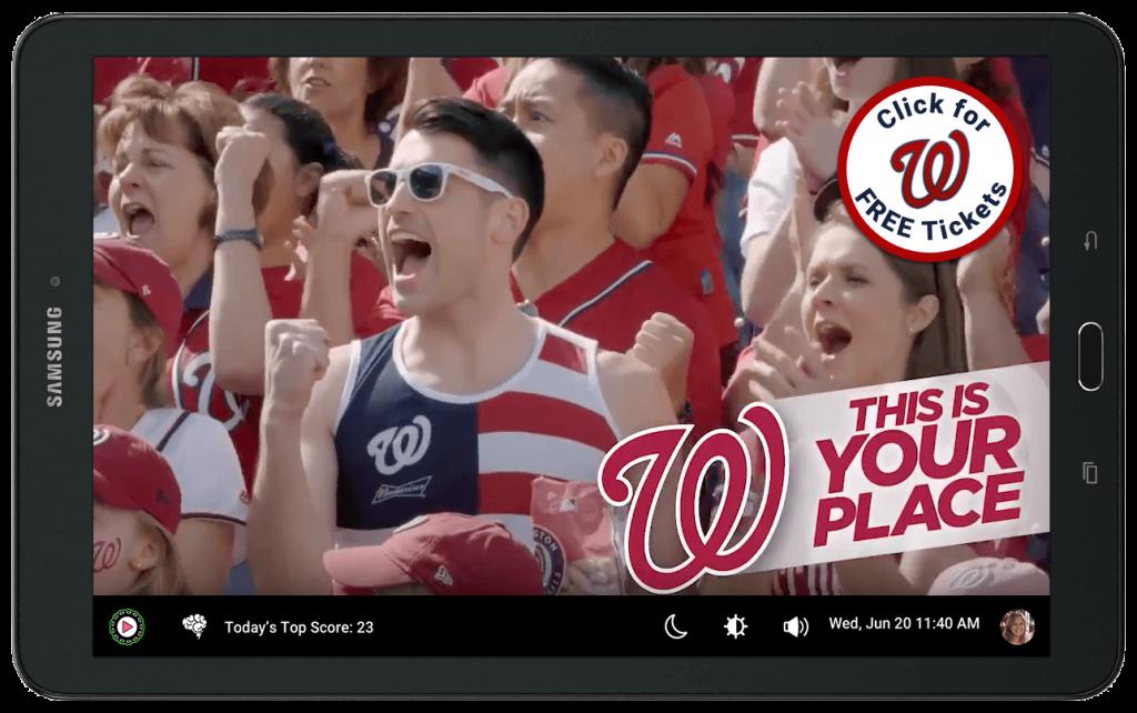 Play Octopus Washington Nationals advertisement