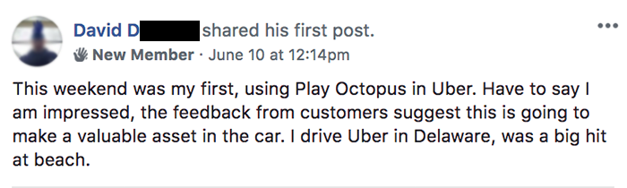 Play Octopus Rideshare Entertainment Review - David