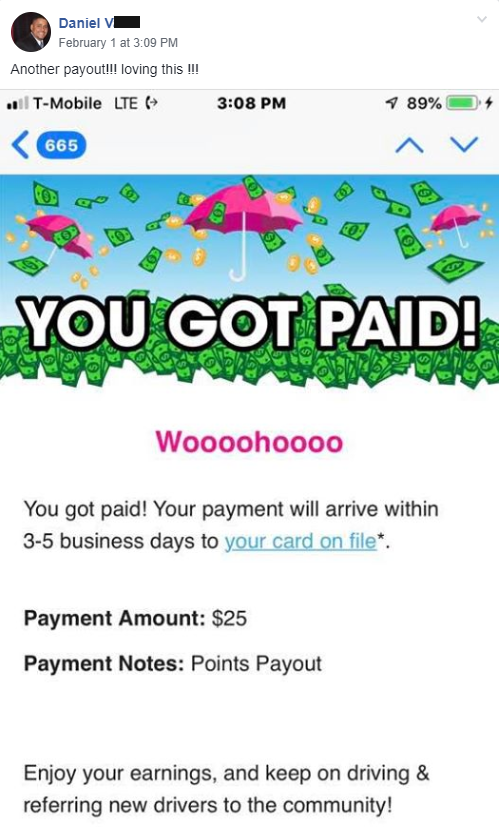 "Quote from Daniel V, ""Another payout! Loving this!"""