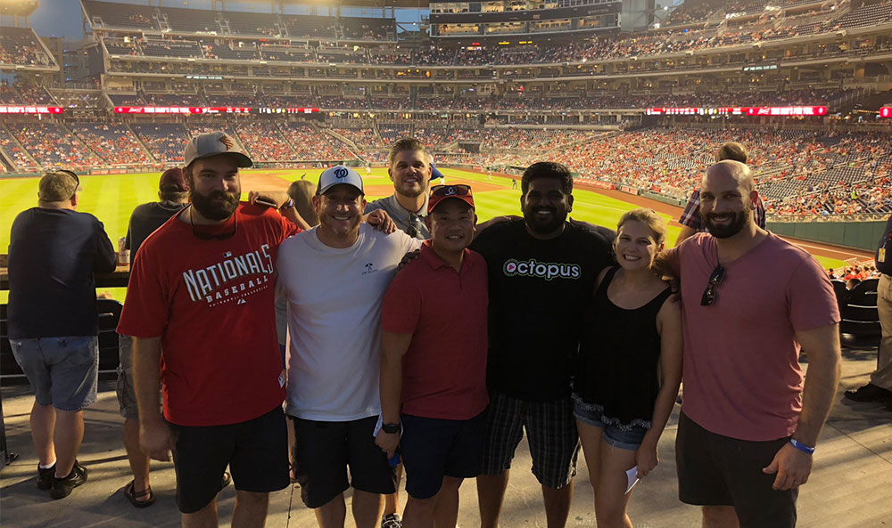 Octopus employees at Nats game