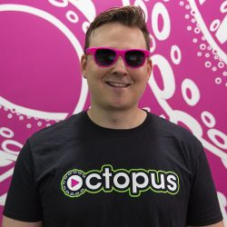 Person wearing Octopus sunglasses