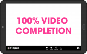 Octopus tablet 100% video completion screen