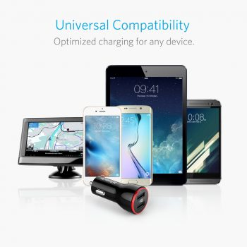 Anker Charger next to compatible devices
