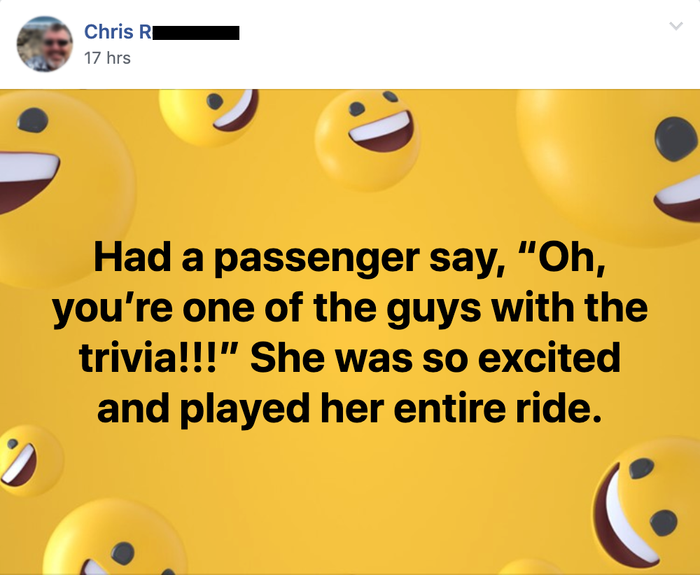 "Quote from Chris R, ""She was so excited and played the entire ride."""