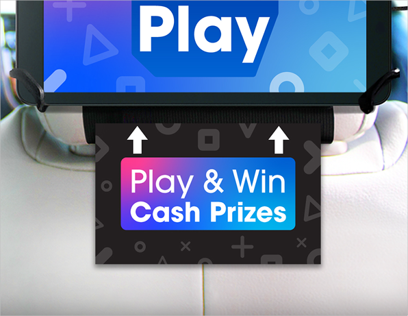 Play to win cash prizes sign