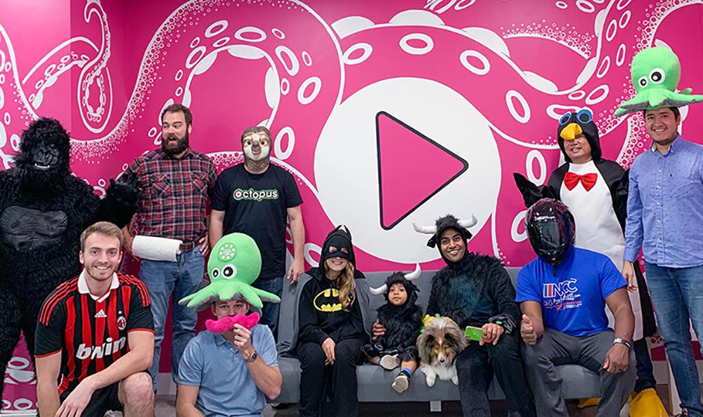 Octopus team on Halloween 2018