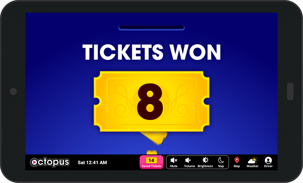 Play Octopus Tablet with Raffle Screen