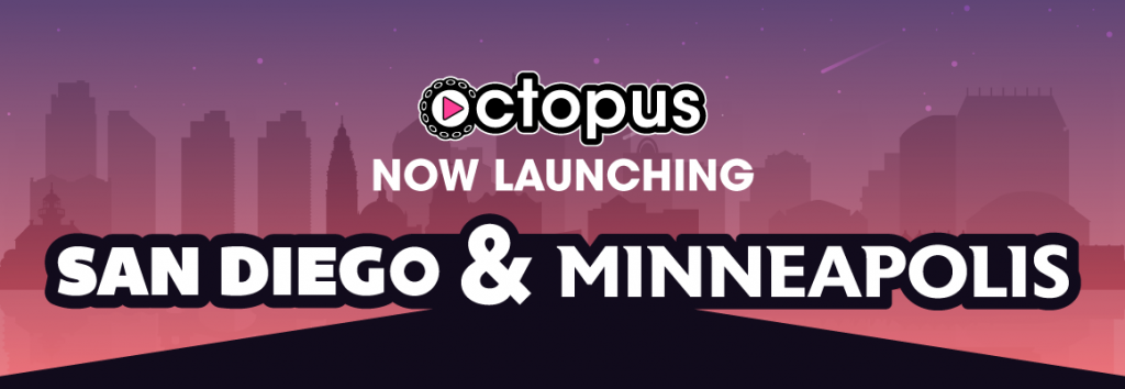 Play Octopus is Launching San Diego and Minneapolis